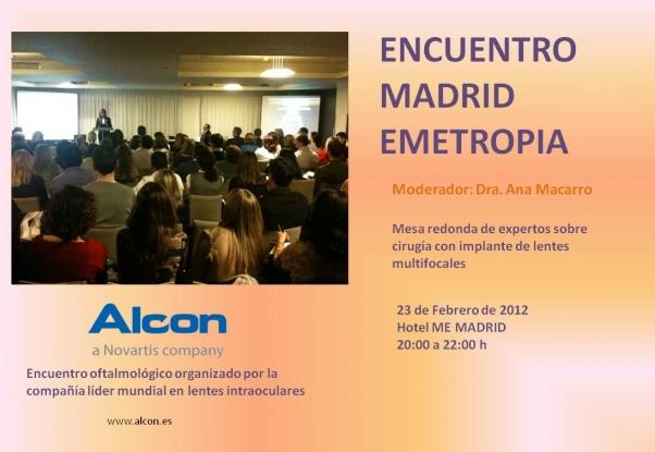 CURSO ENCUENTRO MADRID EMETROPIA ALCON