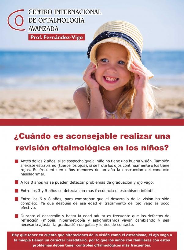 ¿CUANDO REALIZAR UNA REVISION OFTALMOLOGICA EN NIÑOS?