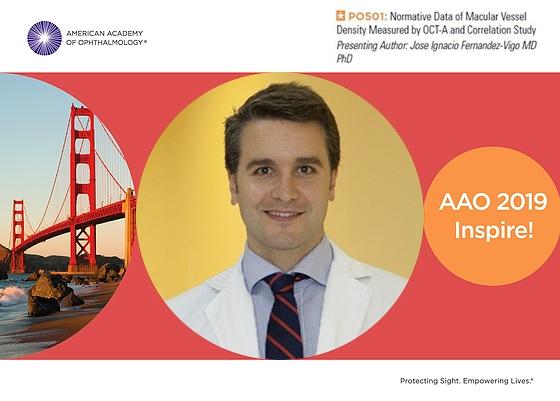 El Dr. Jose Ignacio Fernandez-Vigo recibe una distinción como uno de los mejores posters presentados en el Congreso de la Sociedad Americana de Oftalmologia.