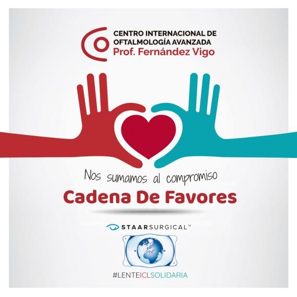 """Clínicas Fernández-Vigo y Staar Surgical se unen en la Campaña """"Cadena de Favores"""" con Lente ICL Solidaria"""